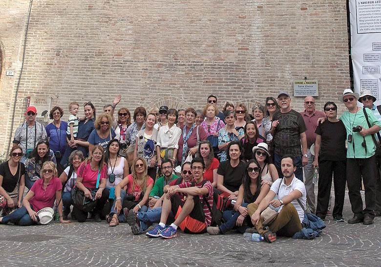 Gruppo in visita a Macerata