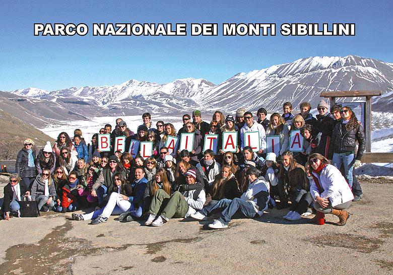 Gruppo in visita al Parco Nazionale dei monti Sibillini